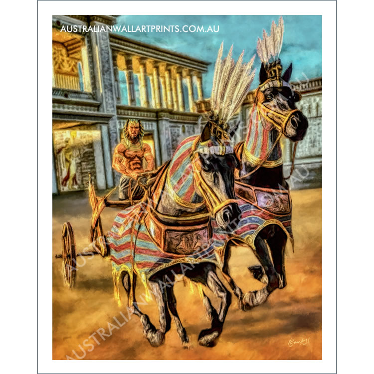 Egyptian Chariot Wall Art