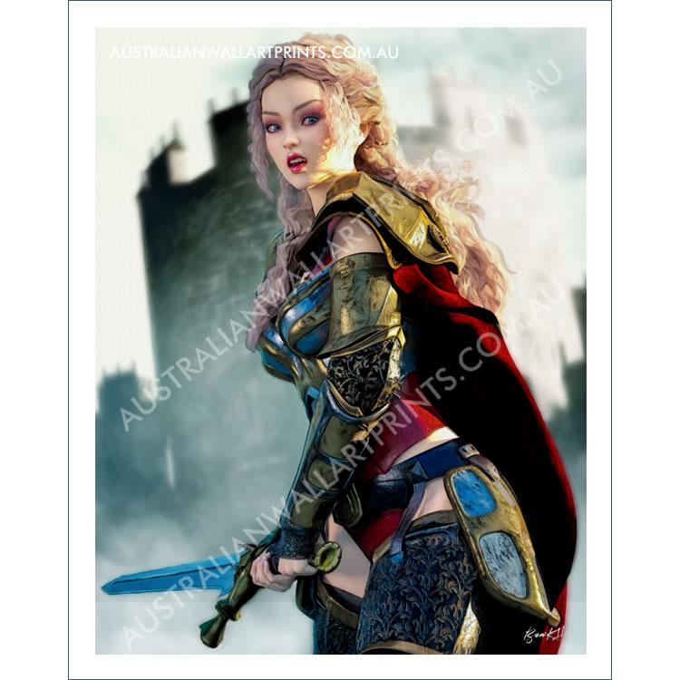Fantasy Knight Wall Art
