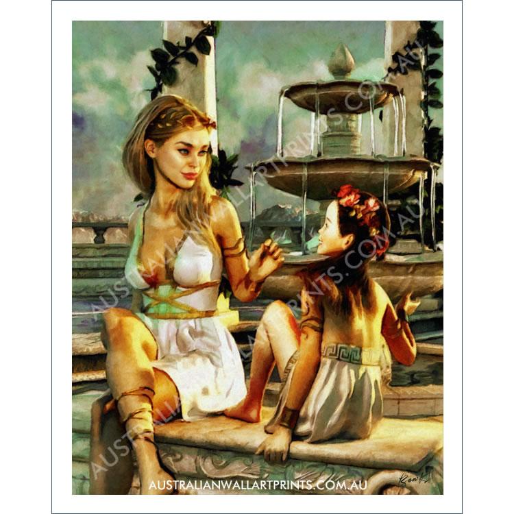 Grecian Goddesses Fantasy Art Print