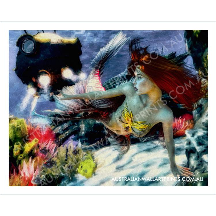 Mermaid Wall Art Print