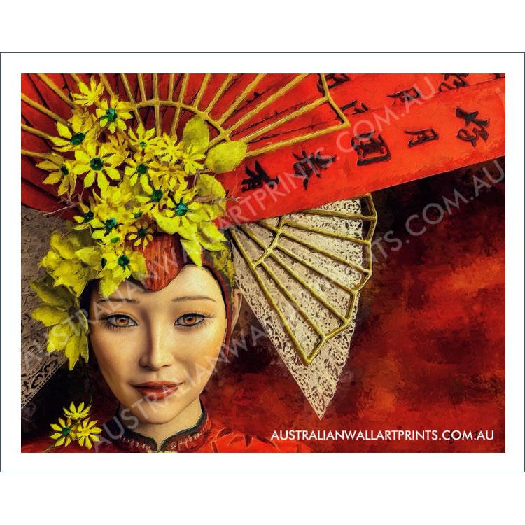 East Asian Inspired Wall Art Print