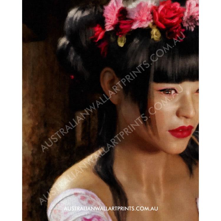 Giclee wall art print Japanese woman