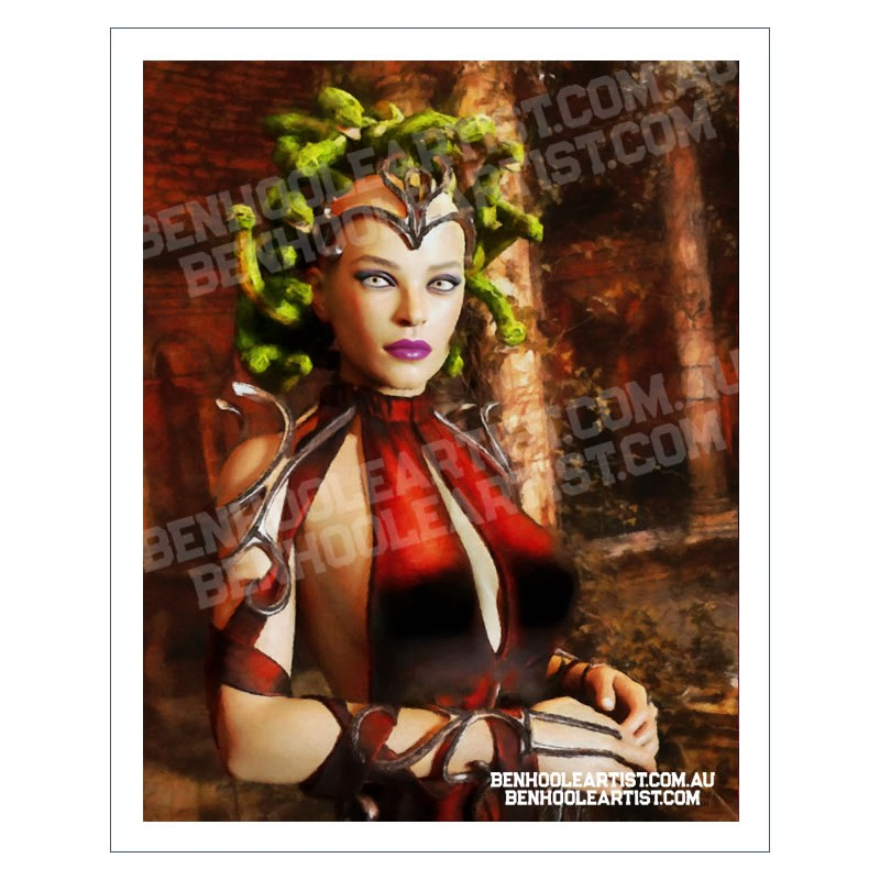 Beautiful and Deadly - Medusa Wall Art Print