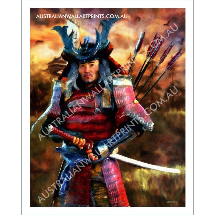 Samurai Warrior Wall Art