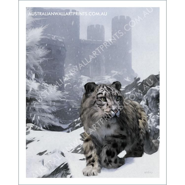 Snow Leopard Wall Art Print
