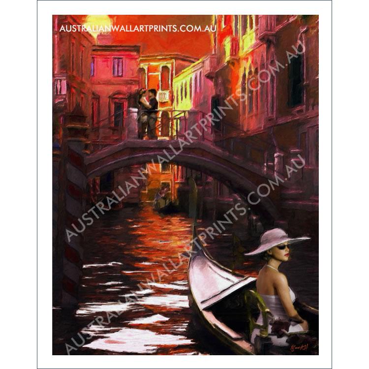 Sunset in Venice Art Print