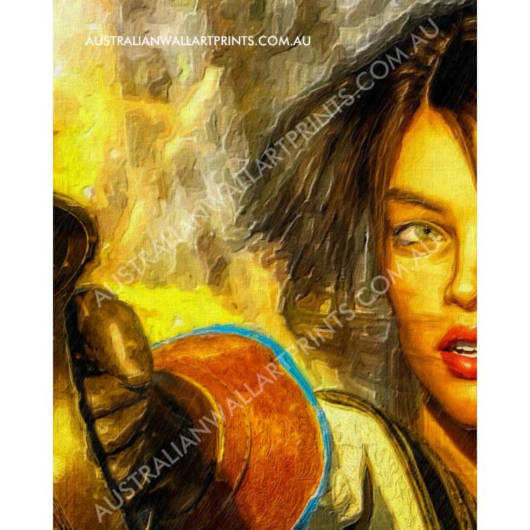 Art Print of a Stunning Female Pirate