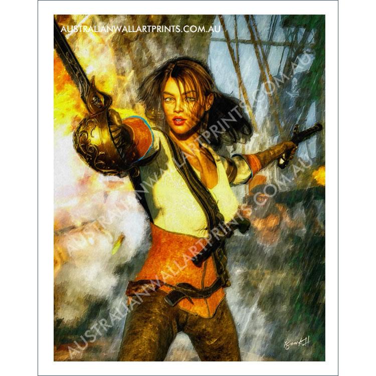 Female Pirate Wall Art