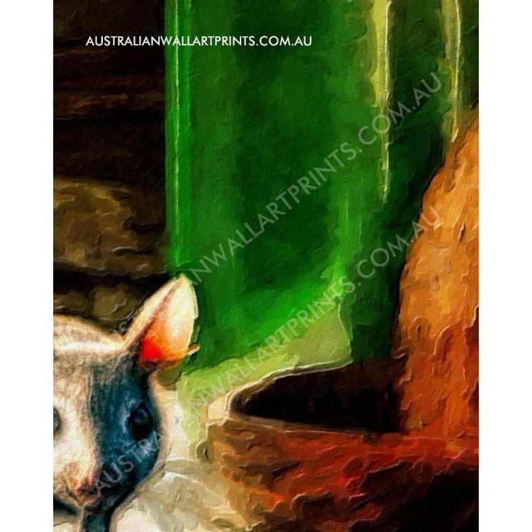 Art print feasting mouse