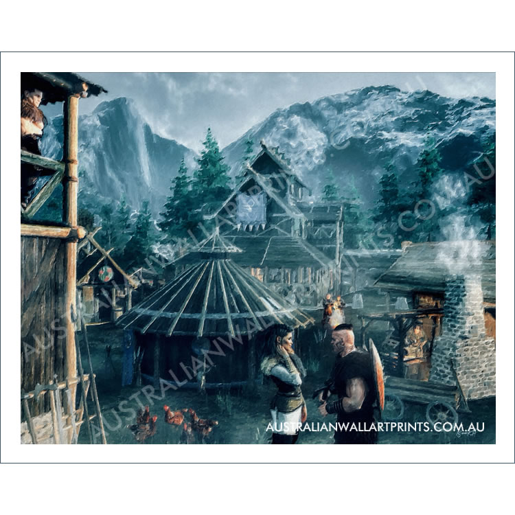 Wall Art Viking Village