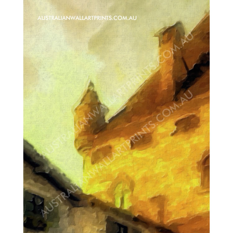 Art Print of Medieval Town in France
