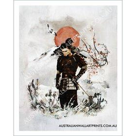 Samurai Warrior Wall Art Print