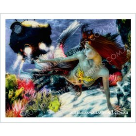 Mermaid Wall Art Print