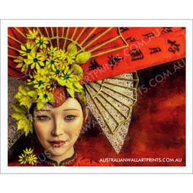 East Asian Inspired Wall Art Print
