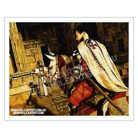Templar City Giclee Wall Art Print