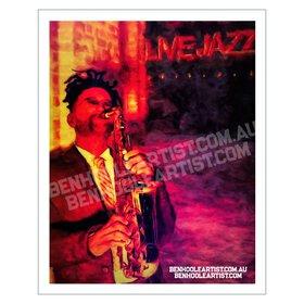 Saxophonist Wall Art Print