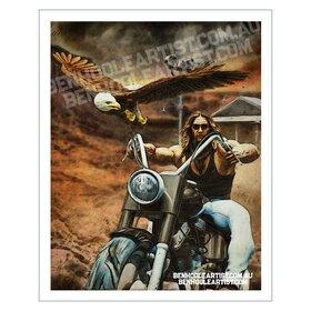 Biker Wall Art Print