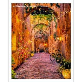 Wall Art Mediterranean Courtyard