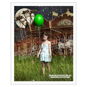 Child at the Circus. Wall Art Print.