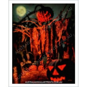 Scarecrow Halloween Wall Art