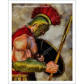 Spartan warrior wall art print