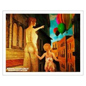 Wall art print Tuscany