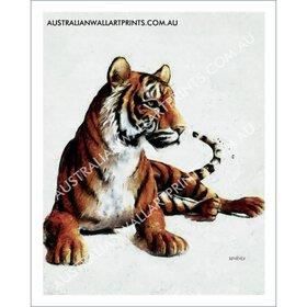 Sitting Tiger Art Print
